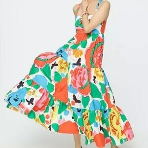 J Crew Tiered Maxi Dress in Ratti Jardin Floral